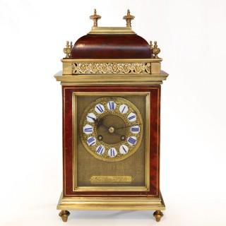 Antique Red Tortoiseshell Striking Mantel clock