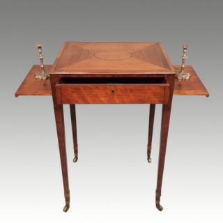 Small Sheraton satinwood writing table.