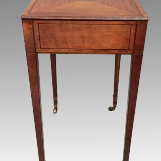 Small Sheraton satinwood writing table.