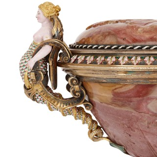 Agate cup with jewelled and enamelled gold and silver-gilt mounts by Morel
