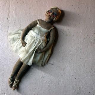 A Scarce Early 20thC French Ballerina Boudoir Doll c.1920-30