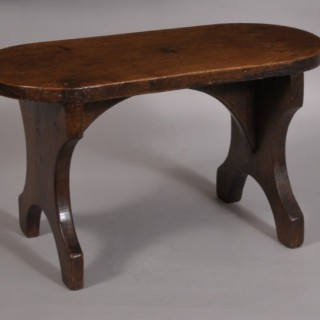 Antique 19th Century Walnut Rectangular Stool