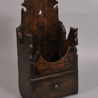 Antique Treen 19th Century Pine Wall Hanging Mortar Stand