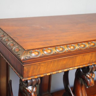 William IV Mahogany Serving Table in the manner of William and Gibton of Dublin