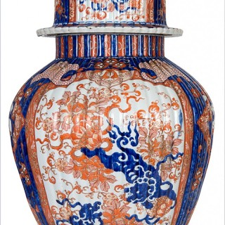 Large 19th Century Japanese Imari lidded vase.