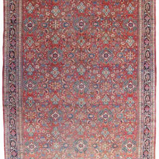 Antique Persian Mahal carpet