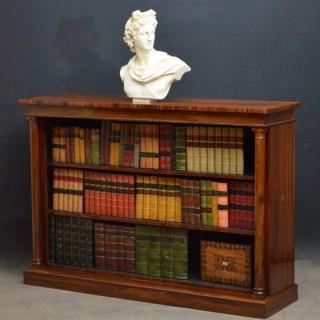 William IV Goncalo Alves Open Bookcase