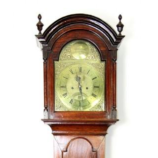 A 18TH CENTURY OAK LONG CASE CLOCK BY RICHARD WATKIN