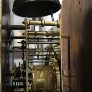 A 18TH CENTURY OAK LONG CASE CLOCK BY RICHARD WATKIN