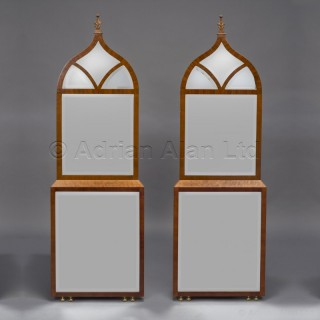 An Unusual Pair of Neo-Gothic Mirrors