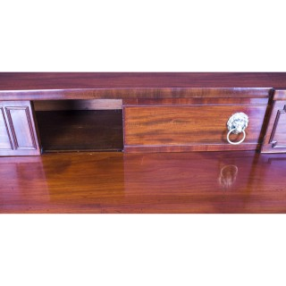 Antique Regency Flame Mahogany Bowfront Sideboard 19th Century