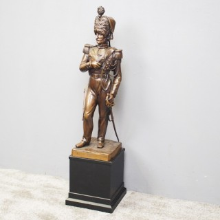 Belgian Bronze Figure of a Grenadier
