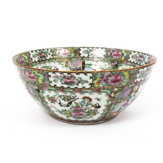 Antique Large Chinese Export Canton-Famille Rose Bowl C1850 19th Century