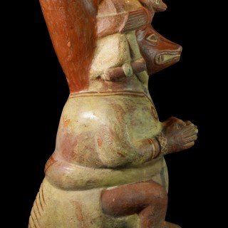 A Large Moche Anthropomorphic Fox Vessel
