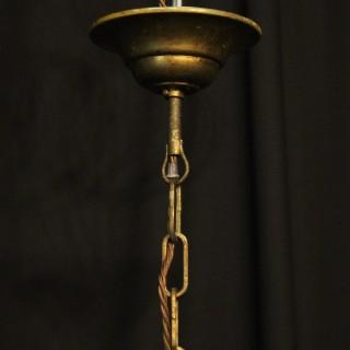 Italian Gilded Convex Triple Light Hall Lantern