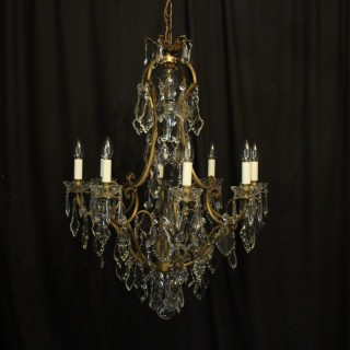 French Gilded 9 Light Antique Chandelier