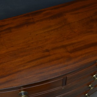 Regency Bowfronted Chest of Drawers in Mahogany