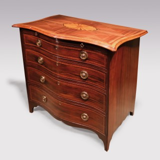 An 18th Century Padouk wood Serpentine Chest