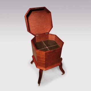 A George III Mahogany Octagonal Cellarette