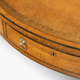 Regency oak drum table