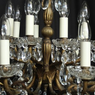 Italian Gilded 16 Light Antique Chandelier