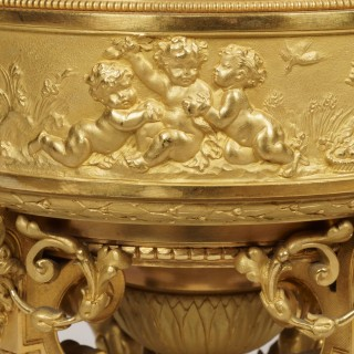 A Pair of Ormolu Vases in the Louis XIV Manner