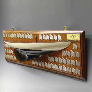 Barabel Half Hull Model and Framed Picture