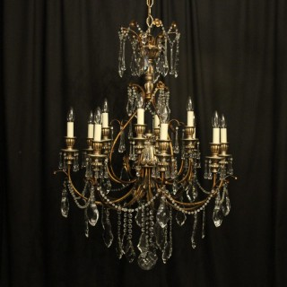 Italian Florentine 12 Light Polychrome Chandelier