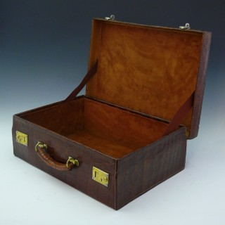 Crocodile Skin Attaché Case