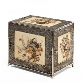 Meiji period shibayama kodansu (casket)