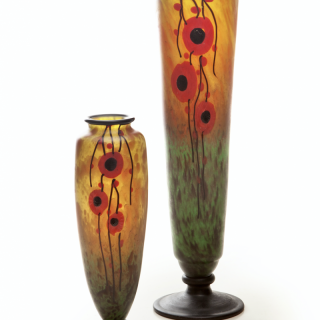 Two poppy vases Charles Schneider