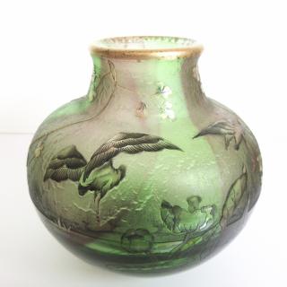 Daum vase with storks