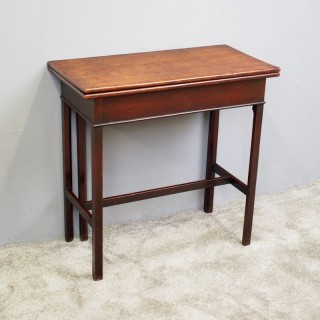 George III English Red Walnut Foldover Table