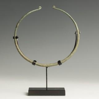 Bronze Age Decorated Neck Torc