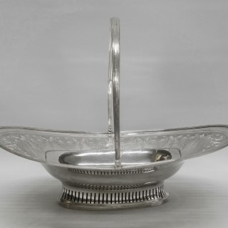 Georgian Silver Basket by Peter and Ann Bateman
