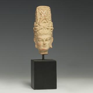Fine Gandharan Terracotta Head of a Boddhisattva