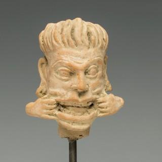Gandhara Teracotta Head of a Grotesque