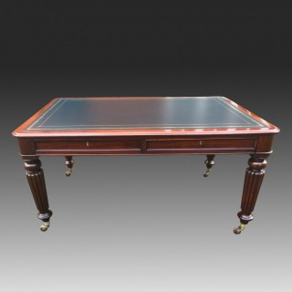 Antique Partners Library Table, Writing Table or Desk