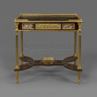 A Louis XVI Style Coromandel Lacquer-Mounted Ladies Dressing Table