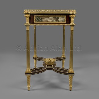 A Louis XVI Style Coromandel Lacquer-Mounted Ladies Dressing Table