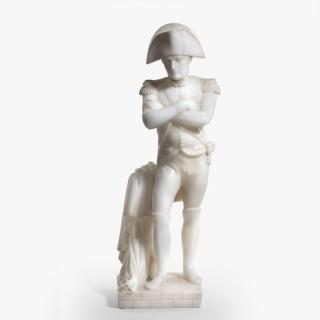 A fine Victorian alabaster figure of Napoleon Bonaparte