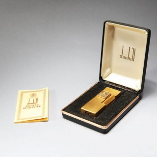 PRESIDENTS CLUB ALFRED DUNHILL GOLD PLATED BUTANE LIGHTER