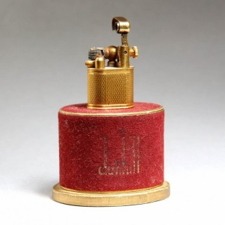 GOLD PLATED BABY SYLPH LIGHTER – WITH ITS ORIGINAL RED FLOCK BOX