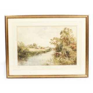 Antique Watercolour Landscape by Henry John Kinnaird Circa 1880