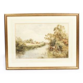 Antique Watercolour Landscape by Henry John Kinnaird Circa 1880
