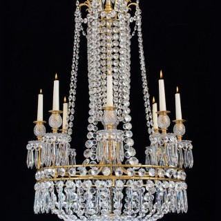 AN FINE REGENCY PERIOD  CHANDELIER BY JOHN BLADES