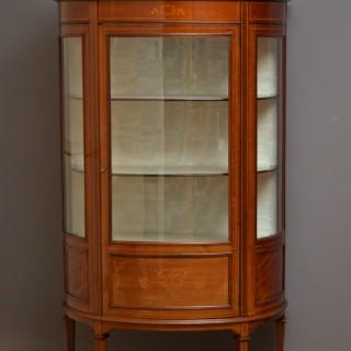 Edwardian Mahogany Display Cabinet – Vitrine