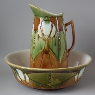 Large Minton Secessionist No.14 Jug and Wash Bowl
