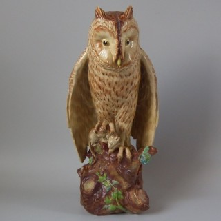 Copeland Painted Earthenware Owl Figure