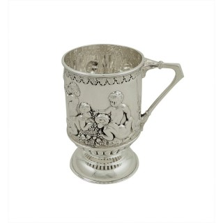 Antique Victorian Sterling Silver Christening Mug/Tankard 1899